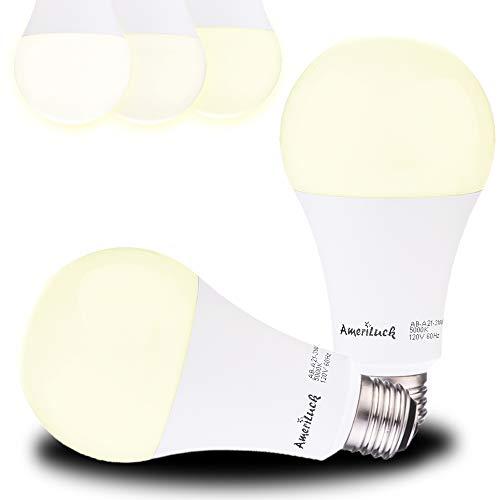 AmeriLuck LED 3-Way Light Bulb A21, 50-100-150W Equivalent, 5000K Daylight, 7/14/20 Watt (800-1500-2200 Lumens), CRI 80+, Omni-Directional, UL Listed (2 Pack)