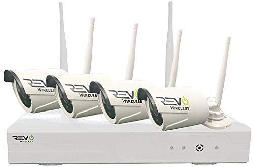 Revo America Wireless 4 Ch. NVR Surveillance System with 4 HD Wireless Bullet Cameras