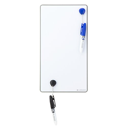 U Brands Magnetic Frameless Dry Erase Board Value Pack, 6 x 11 Inches, Silver Aluminum Frame