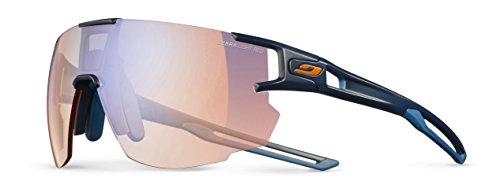Julbo Aerospeed Performance Sunglasses - REACTIV Zebra Light Red - Dark Blue/Dark Blue/Orange