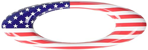 Oakley Unisex-Adult Usa Flag O Sticker Replacement Lenses, USA, 0 mm