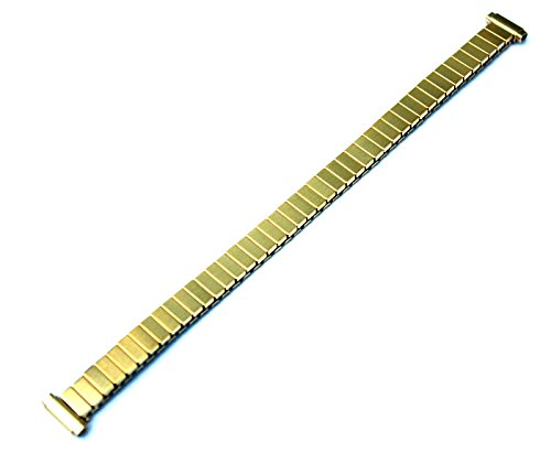 Timex Ultra-Flex Expansion Stretch Watchband Gold Tone fits 8mm to 11mm