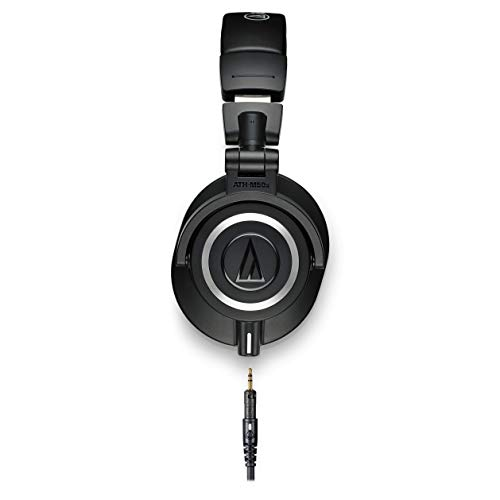 Audio-Technica-ATH-M50x-Professional-Studio-Monitor-Headphones-Black-Professional-Grade-Critically-Acclaimed-With-Detachable-Cable