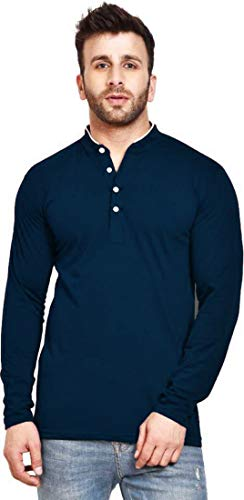 T Shirts for Mens Full Sleeve|Mandrin Collar Tshirts for Men|Casual Tshirts for Men