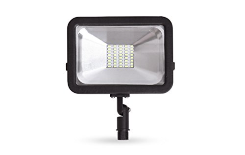 LLT LED Compact Floodlight with Arm SMD Outdoor Landscape Security Waterproof 20W 5000K (Daylight)