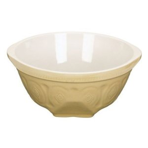 KitchenCraft Home Made Ceramic Mixing Bowl, Traditional Design, Beige, 3 L 31aBJnK9rIL