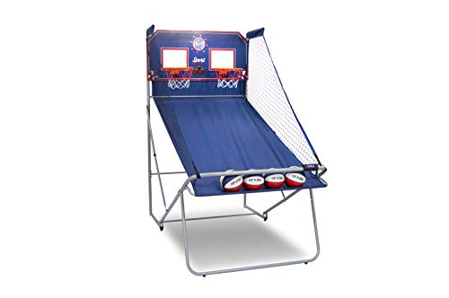 Pop-A-Shot Official Dual Shot Sport Basketball Arcade Game - 10 Games - 6 Audio Options - Durable Construction - Easy Fold Up