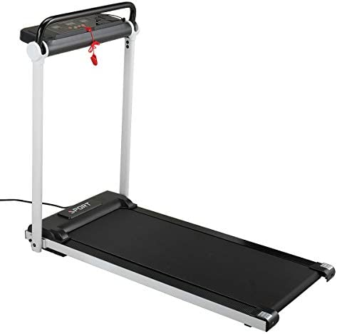 JAXPETY Electric Folding Treadmill 2.0HP Fitness Motorized Running Jogging Machine Perfect for Home/Office Gym with Large LED Display, 12 Preset Programs, Black 1