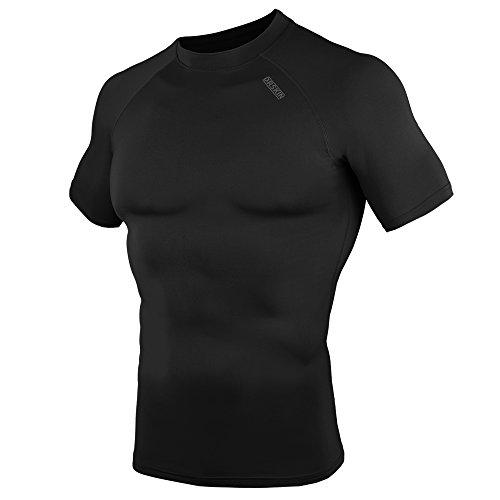 DRSKIN Compression Tight Short Sleeve Shirt Base layer men women (M, SBBN55)