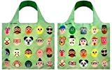 LOQI Artist Faces Reusable Shopping Bag, Multicolored