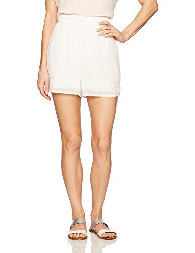 31ad9JY7rZL White shorts Textured mini shorts
