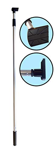 Gutter Hoe - Gutter Cleaning Tool. Telescopic Pole with attached Scraper Blade.