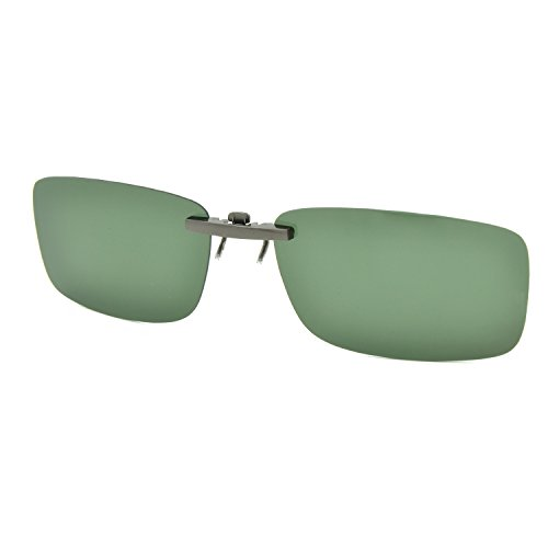 Besgoods Polarized Clip-on Sunglasses Lenses Glasses Unbreakable Driving Fishing Outdoor Sport Travelling New (Dark Green)