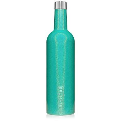 BruMate-Winesulator-25-Oz-Triple-Walled-Insulated-Wine-Canteen-Made-Of-Stainless-Steel-24-hour-Temperature-Retention-Shatterproof-Comes-With-Matching-Silicone-Funnel-Glitter-Peacock