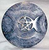 New Age Soapstone Triple Moon Altar Tile