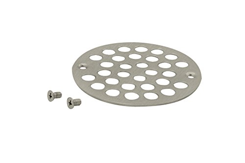 Westbrass 4' O.D. Sold Brass Shower Strainer Cover, Satin Nickel, D3192-07