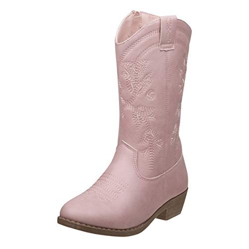 'Kensie Girl Girls Western Cowboy Boot (Toddler, Little Kid, Big Kid) (3 M US Big Kid, Pink)'