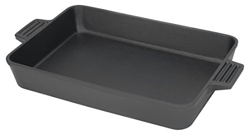 Bayou Classic 7473 Cast Iron Baking Pan, 9 by 13'