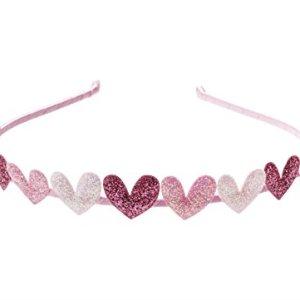 """Anna Belen Girls""""Eden"""" Glitter Hearts Headband"""