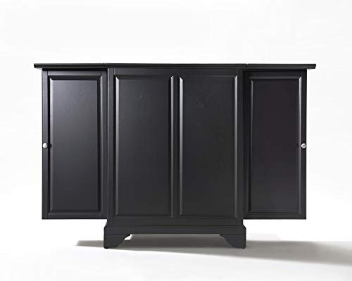 Crosley Furniture Lafayette Expandable Top Bar Cabinet-Black