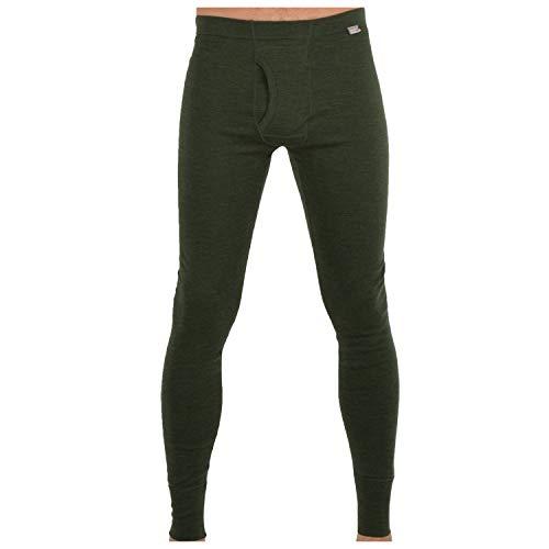 MERIWOOL Men's Merino Wool Midweight Baselayer Bottom - Army Green/Medium