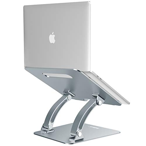 Nulaxy Laptop Stand, Ergonomic Adjustable Laptop Riser Computer Laptop Stand Compatible with Apple MacBook, Air, Pro, Dell XPS, HP, Samsung, Lenovo, All Laptops 10-17.3', Supports Up to 22 Lbs - Grey