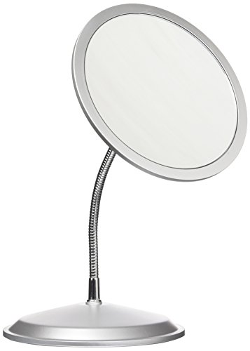 Double VisionTM Gooseneck Vanity/Wall Mount Mirror 5X/10X Magnification, Made in the USA