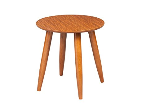 Boraam 33711 Zebra Series Varberg Side Table, Honey Oak