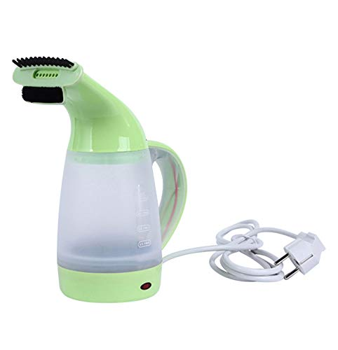 I'll NEVER BE HER Portable Electric Kettle Hand-Held Clothes Ironing Machine Handheld Cleaning Travel Garment Steamer with Brush for Clothes 220V,Mint Green