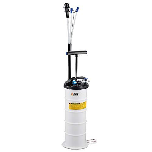 EWK Pneumatic/Manual 6.5 Liter Oil Changer Vacuum Fluid Extractor Pump Tank Remover + Storage Unit + Sealing Cap