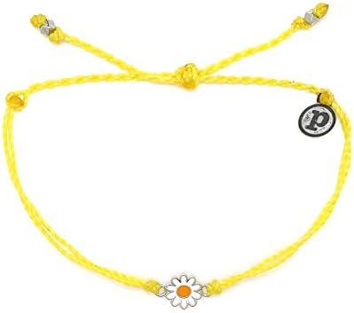 Pura Vida Gold or Silver Daisy Bracelet - Waterproof, Artisan Handmade, Adjustable, Threaded, Fashion Jewelry for Girls/Women 1