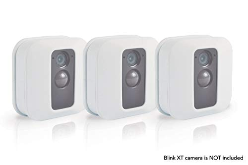 Silicone Skin for Blink XT Security Camera (3 pcs White) - Silicon Case for Blinks Home Security - Anti-Scretch Protective Cover for Full Protection - Indoor Outdoor Best Home Accessories by Sully