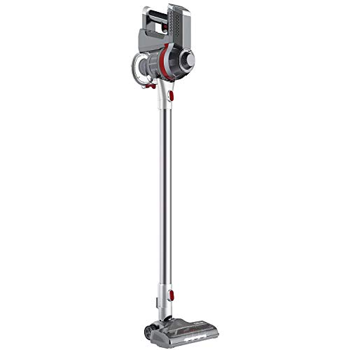 Deik Cordless Vacuum Cleaner, Stick and Handheld Vacuum with Powerful Suction & Wall-Mount Silver