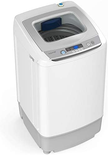 hOmeLabs Portable Washing Machine – 6 Pound Load Capacity, 1.0 Cubic Foot Interior, Top Loading, 5 Wash Cycles, and LED Display – Perfect for Apartments, RVs and Small Space Living
