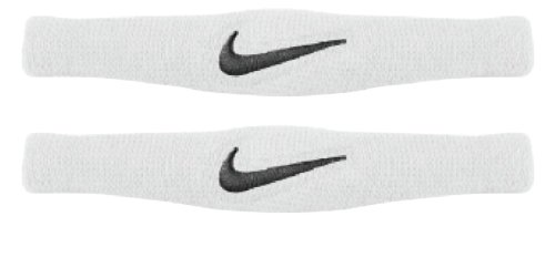 Nike Dri Fit Bands Pair (White/Black, Osfm)
