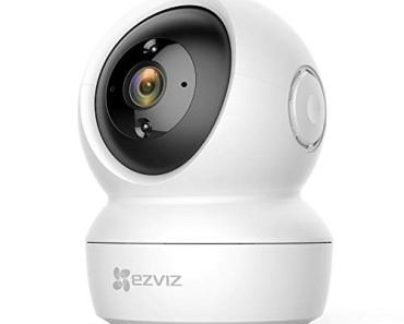 EZVIZ by Hikvision C6N Wireless Full HD 360° View Pan Tilt Indoor Home Camera with Night Vision, Motion Alert on Mobile, 256 GB Slot 2-Way Audio  Sleep Mode (White)