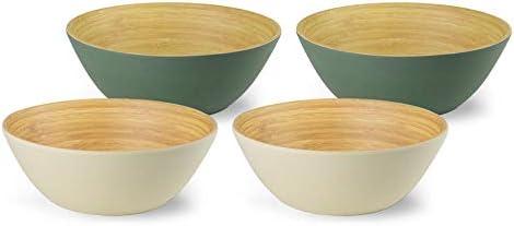 BIZOYG Cuenco Cereal de bambú orgánico 4-Set