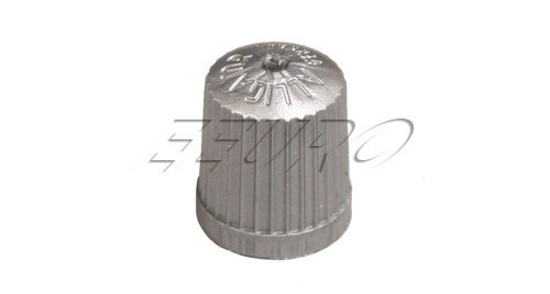 BMW TPMS Wheel Valve Stem Cap set Gray (x4) tire air fill screw on cover