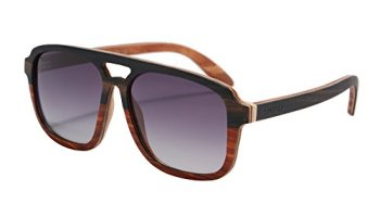 76ffb2d048e SHINU Square Frame Eyewear Genuine Wood Layers Framework Anti-glare Polarized  Sunglasses Men-SH73023