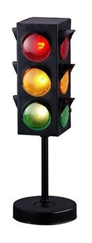 Kicko Traffic Light Lamp with Base - 8 inches Cool and Fun Bright Lights - Flashing Red, Yellow, Green Stoplight Lamp 1 pc. - Great for Kids Themed Parties, Perfect Party Decorations, Birthdays