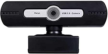 SamMus 720p HD Webcam with Microphone for PC Desktop & Laptop Computer USB Camera for Video Calling, Recording, Conferencing, Online Teaching, Built-in Mic, 30 FPS