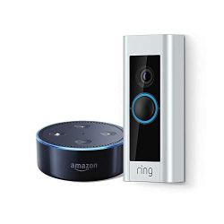 Ring Video Doorbell Pro + Echo Dot  (2nd Generation) - Black