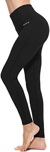 "BALEAF Women's 20"" / 28"" High Waisted Yoga Leggings Workout Capri Tummy Control Pants with Pocket(Plus Size/Regular) 3"