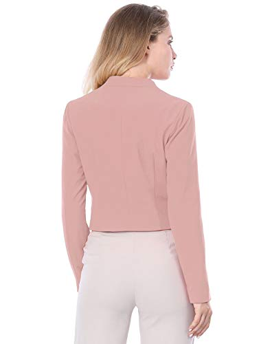 Allegra K Women's Collarless Work Office Business Casual Cropped Blazer 18 Fashion Online Shop gifts for her gifts for him womens full figure