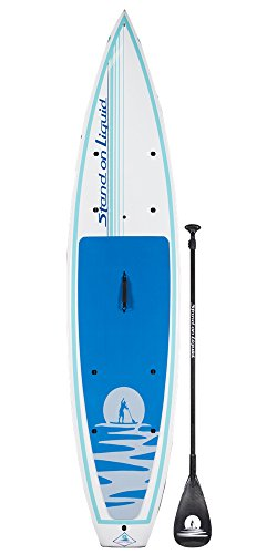 Stand on Liquid Chelan 12 Foot Touring Stand Up Paddle Board (SUP) Package | Includes Full 100% Carbon Adjustable Paddle, Cargo Nets, Carrying Handle, Removable Fin
