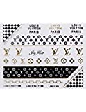 JoyKott 3D Luxury Brand LV Coco Chanel Gucci Nail Art Stickers