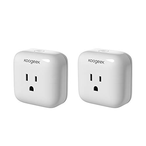 Smart Plug, Koogeek WiFi Socket Outlet, Compatible with Amazon Alexa, Apple HomeKit and Google Assistant, Electronics Controller No Hub Required UL & ETL & FCC certified (2 Packs($28.50/Count))