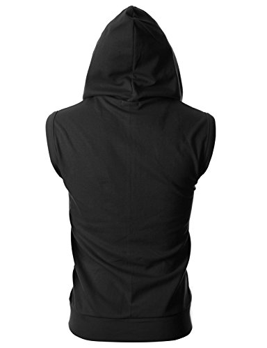 OHOO Mens Slim Fit Sleeveless Lightweight Zip-up Hooded Vest with Zipper Trim 16 Fashion Online Shop gifts for her gifts for him womens full figure