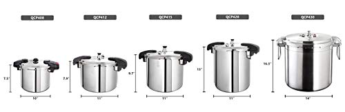 Buffalo-QCP430-32-Quart-Stainless-Steel-Pressure-Cooker-Commercial-series