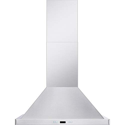 DKB 30' Inch Wall Mounted Range Hood Brushed Stainless Steel With Halogen Lights 600 CFM